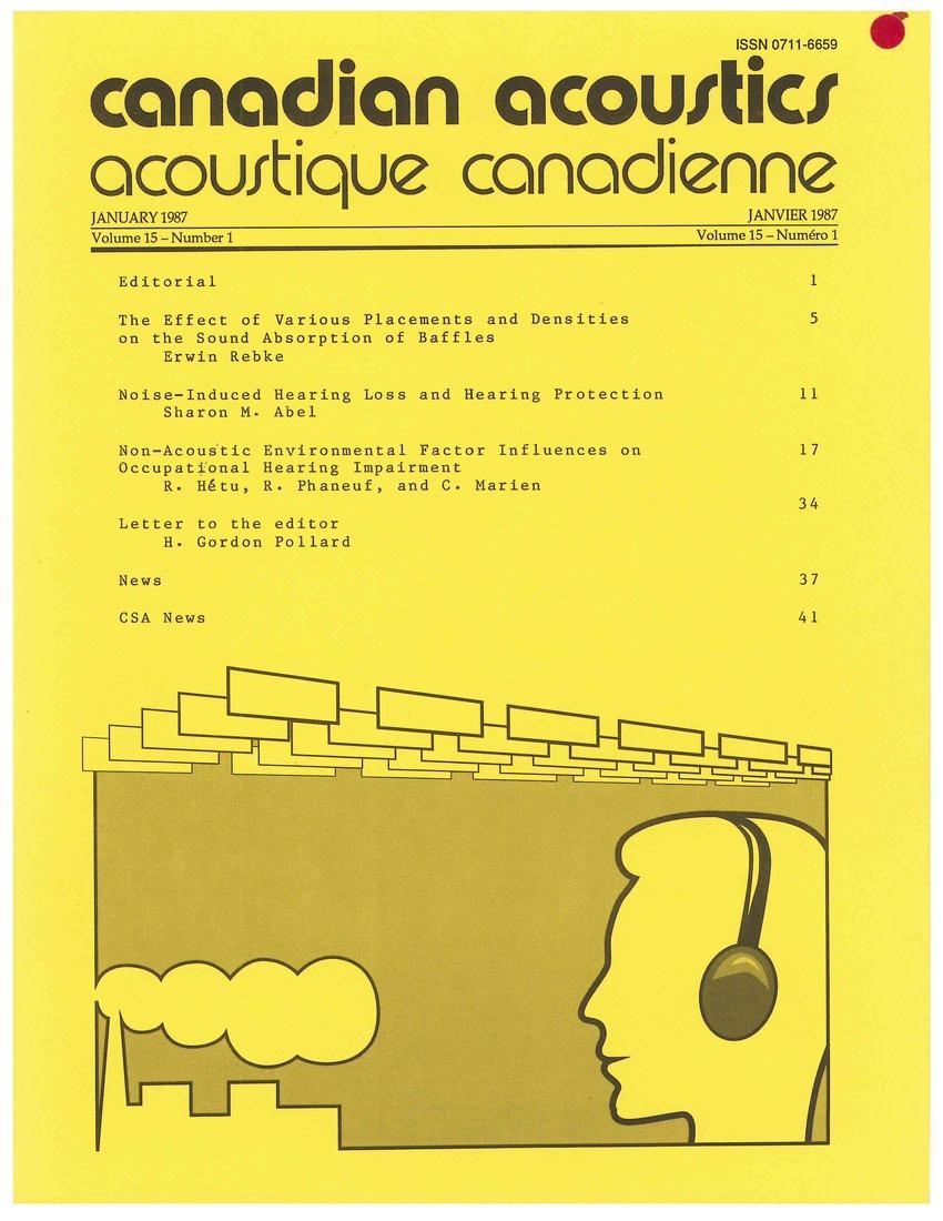 View Vol. 15 No. 1 (1987)