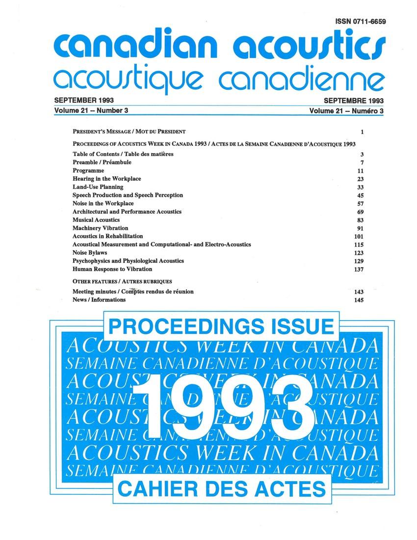 View Vol. 21 No. 3 (1993)